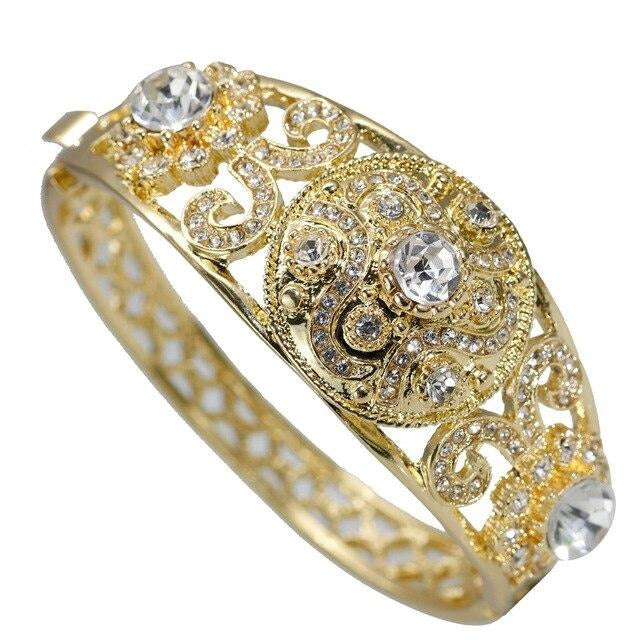 Caucasus Ethnic Wedding Bangle For Women - Hollow Cuff Bracelet - GiftWorldStyle - Luxury Jewelry and Accessories