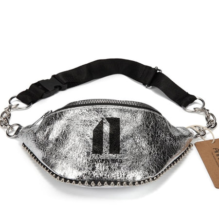 Shiny Fabric Waist Bag With Travel Phone Pouch - GiftWorldStyle - Luxury Jewelry and Accessories