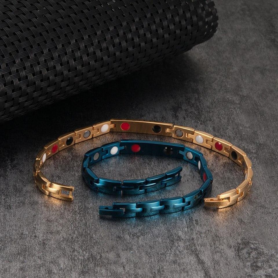 Blue Energy Bracelets  for Women With Germanium Magnetic Crystal - GiftWorldStyle - Luxury Jewelry and Accessories