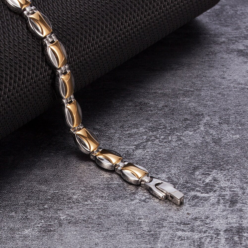 Energy Bracelets for Men With Magnetic Germanium Chain & Link - GiftWorldStyle - Luxury Jewelry and Accessories