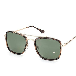 Vintage Metal Frame UV400 Protection Gradient Sunglasses