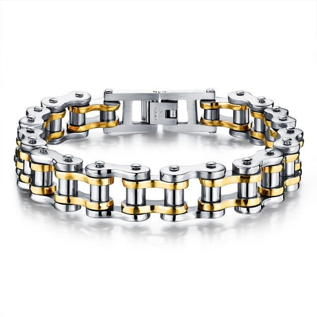 Biker 316L Stainless Steel Bracelet - GiftWorldStyle - Luxury Jewelry and Accessories