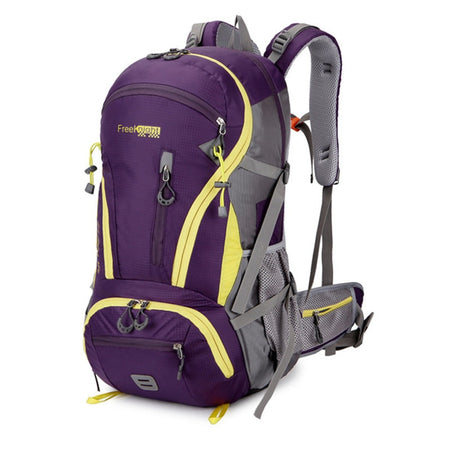 Outdoor Rucksack Camping Hiking Backpack Trekking 45L Purple Waterproof Bag Climbing Travel Rucksack - GiftWorldStyle - Luxury Jewelry and Accessories