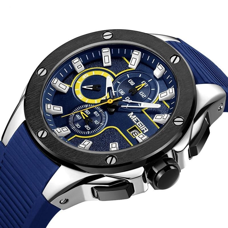Men's Sports Chronograph Quartz Wristwatch With Luminous Hands - GiftWorldStyle - Luxury Jewelry and Accessories
