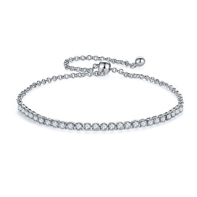 Tennis Bracelet With Link Chain