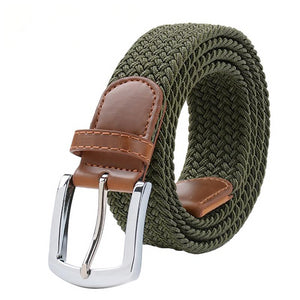 Men's Belts for Women Metal Pin Buckle Elastic Female Belt Military Tactical