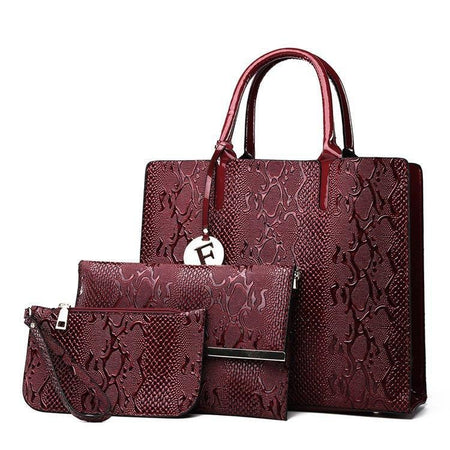3Pcs Bag Sets Handbags Women Bags Designer Female Shoulder Handbags Purses - GiftWorldStyle - Luxury Jewelry and Accessories