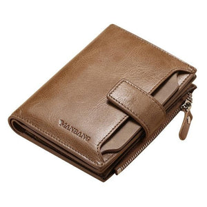 Men's Fashion Genuine Leather Wallet - GiftWorldStyle - Luxury Jewelry and Accessories