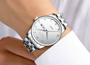 Quartz Ultra-Thin Waterproof Wristwatch - Chronograph, Week Display - GiftWorldStyle - Luxury Jewelry and Accessories