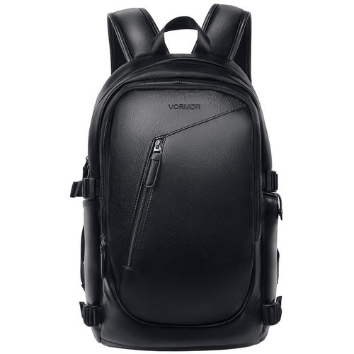 Men Backpack Waterproof PU Leather Backpack Male Travel Bag Casual School Bag