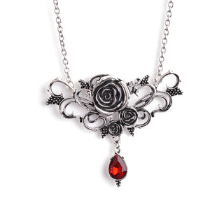 Vintage Prickly Rose Flower Necklace - GiftWorldStyle - Luxury Jewelry and Accessories