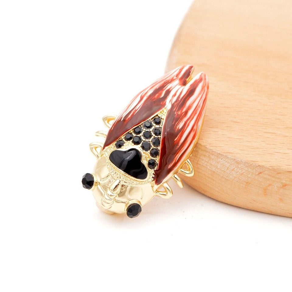 Brightly Cicada Insect Crystal Brooches For Women