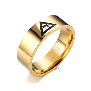 316L Stainless Steel Silver Gold Masonic Ring Scottish Rite Freemason Round Circle 14 Mason Freemason Rings