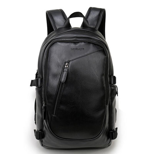 Waterproof 15.6 Inch Laptop Backpack Men Leather Backpacks Teenager Men Casual Male