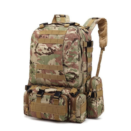 600D Oxford 55L Tactical Backpack Camouflage Military Army Bag Archery Hunting Fishing Backpacks Outdoor Camping - GiftWorldStyle - Luxury Jewelry and Accessories