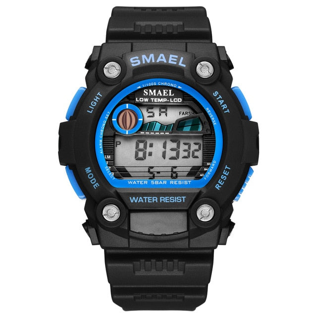 Automatic Sport Men's Watch 50m Waterproof Digital Wristwatches Male Men Casual Digital Watch