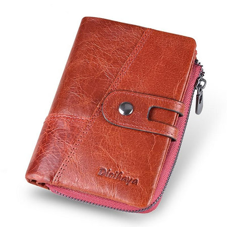 Genuine Leather Wallet From Cow With Coins Purse,Organizer