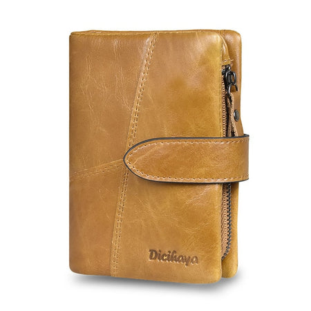 Small Color Leather Wallet For Women With Coin Pocket,Zipper