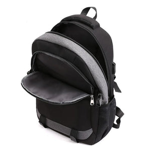 Large Waterproof School Bag With USB Charge, Reflective Strip - GiftWorldStyle - Luxury Jewelry and Accessories