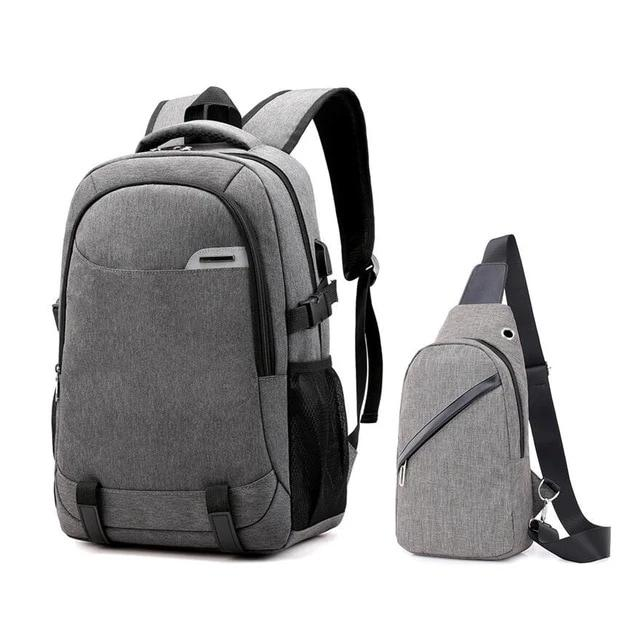 Large Waterproof School Bag With USB Charge, Reflective Strip