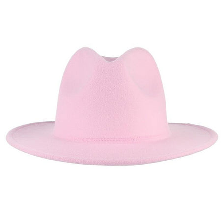 Pink Fedora Hat With Polyester And Cotton For Women - GiftWorldStyle - Luxury Jewelry and Accessories