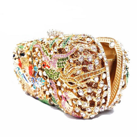 Rhinestone Evening Bridal Bag With Alloy Animal Design - GiftWorldStyle - Luxury Jewelry and Accessories