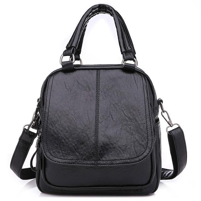 PU Leather Women Backpack Backpack Shoulder Tote Bags Crossbody Bags