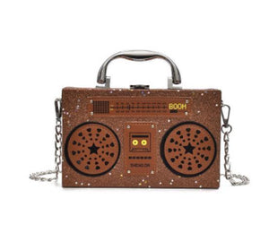 Radio Shaped Leather Ladies Shoulder Handbag - GiftWorldStyle - Luxury Jewelry and Accessories