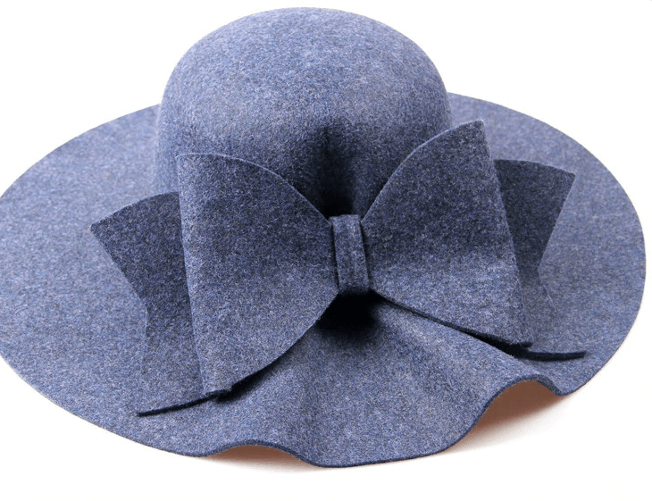 Fedora Hat With Caps And Wide Brim , Real Wool, Cashmere - GiftWorldStyle - Luxury Jewelry and Accessories