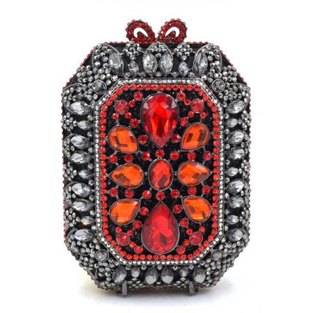 Crystal Evening Bag With Chains, Diamonds And Hollow Out - GiftWorldStyle - Luxury Jewelry and Accessories