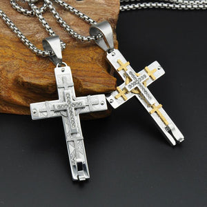 Religion Christian Jesus Crucifix Cross - 316L Stainless Steel