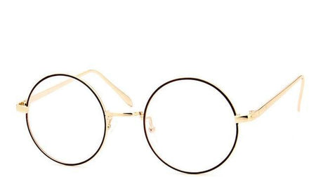 Retro Full Rim Gold Eyeglass Frame Glasses Vintage Spectacles Round Computer Glasses - GiftWorldStyle - Luxury Jewelry and Accessories