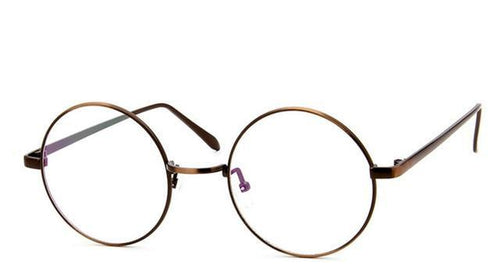 Retro Full Rim Gold Eyeglass Glasses Frame Vintage Spectacles Round Computer Glasses - GiftWorldStyle - Luxury Jewelry and Accessories