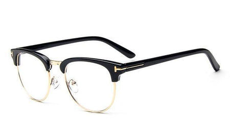 Retro Woman Reading Glasses Metal Half Frame Glasses UV Protection Clear Lens