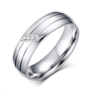 Rings Stainless Steel Rings For Women And Men Promise Ring Cubic Zirconia Couple Jewelry