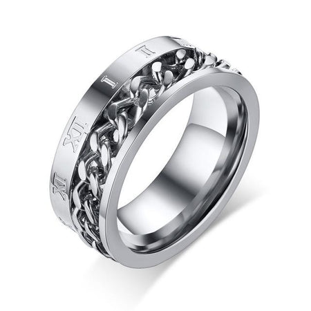 Rock Punk Men Spinner Ring 8mm - Stainless Steel - GiftWorldStyle - Luxury Jewelry and Accessories