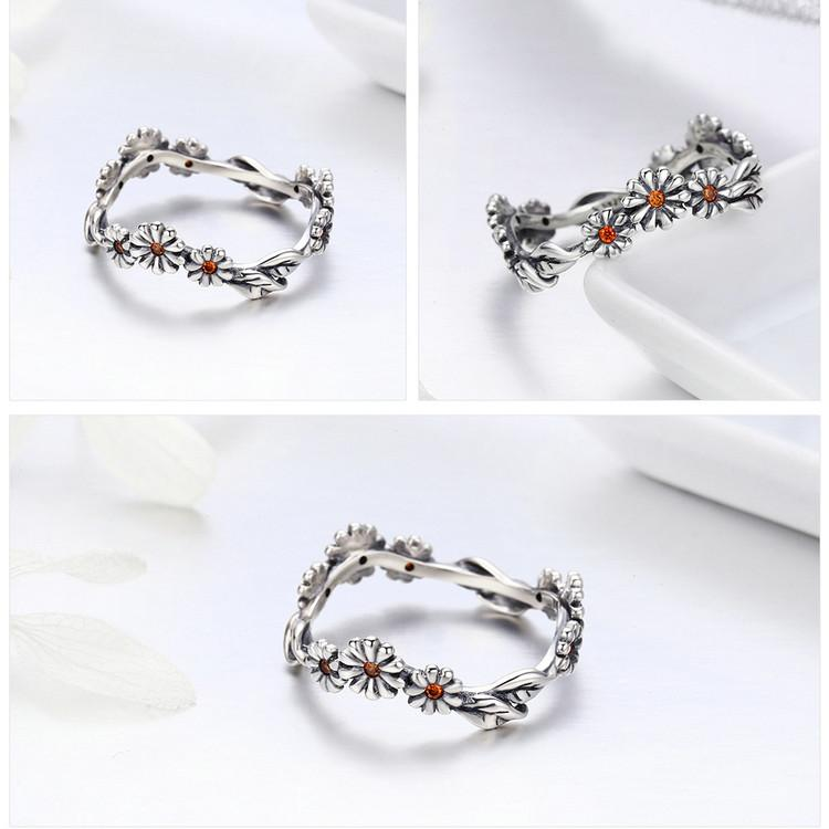 Romantic Daisy Rings For Women - Sterling Silver