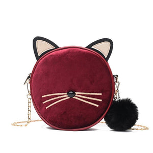Round Cat Casual Shoulder Tote Ladies Crossbody Mini Bag - GiftWorldStyle - Luxury Jewelry and Accessories