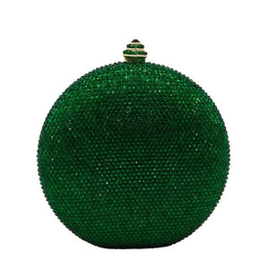 Round Crystal Bag - Diamond Evening Handbag - GiftWorldStyle - Luxury Jewelry and Accessories