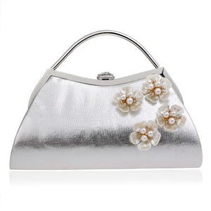 Shell Flower Diamonds Handbag - Shoulder Handle - GiftWorldStyle - Luxury Jewelry and Accessories