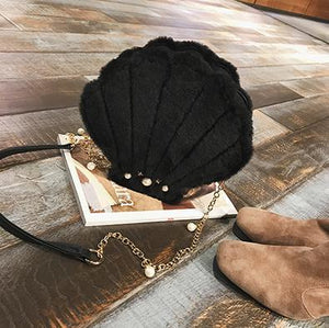 Shell Shape With Pearl Ladies Shoulder Bag - Crossbody Bag