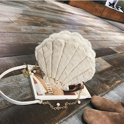 Shell Shape With Pearl Ladies Shoulder Bag - Crossbody Bag - GiftWorldStyle - Luxury Jewelry and Accessories