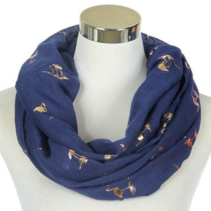 Shiny Women Scarf With Two Flamingo Print - GiftWorldStyle - Luxury Jewelry and Accessories