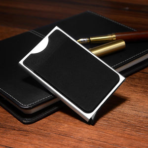 Slim Card Holder Wallet Automatic Pop-up Case Gray