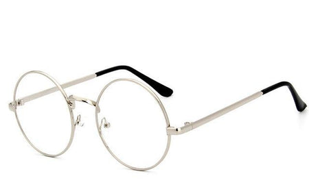 Small Round Nerd Glasses Clear Lens Round Metal Frame Glasses Optical - GiftWorldStyle - Luxury Jewelry and Accessories