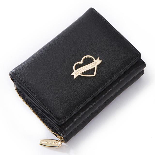 Small Wallet Women Heart Element - Slim , Many Departments