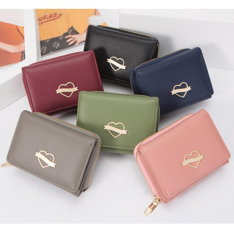 Small Wallet Women Heart Element - Slim , Many Departments - GiftWorldStyle - Luxury Jewelry and Accessories