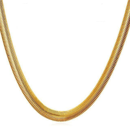 Snake Chain Hip Hop Jewelry For Men Necklace Gold Color Stainless Steel Male Gift Rock Kpop Rapper Necklace