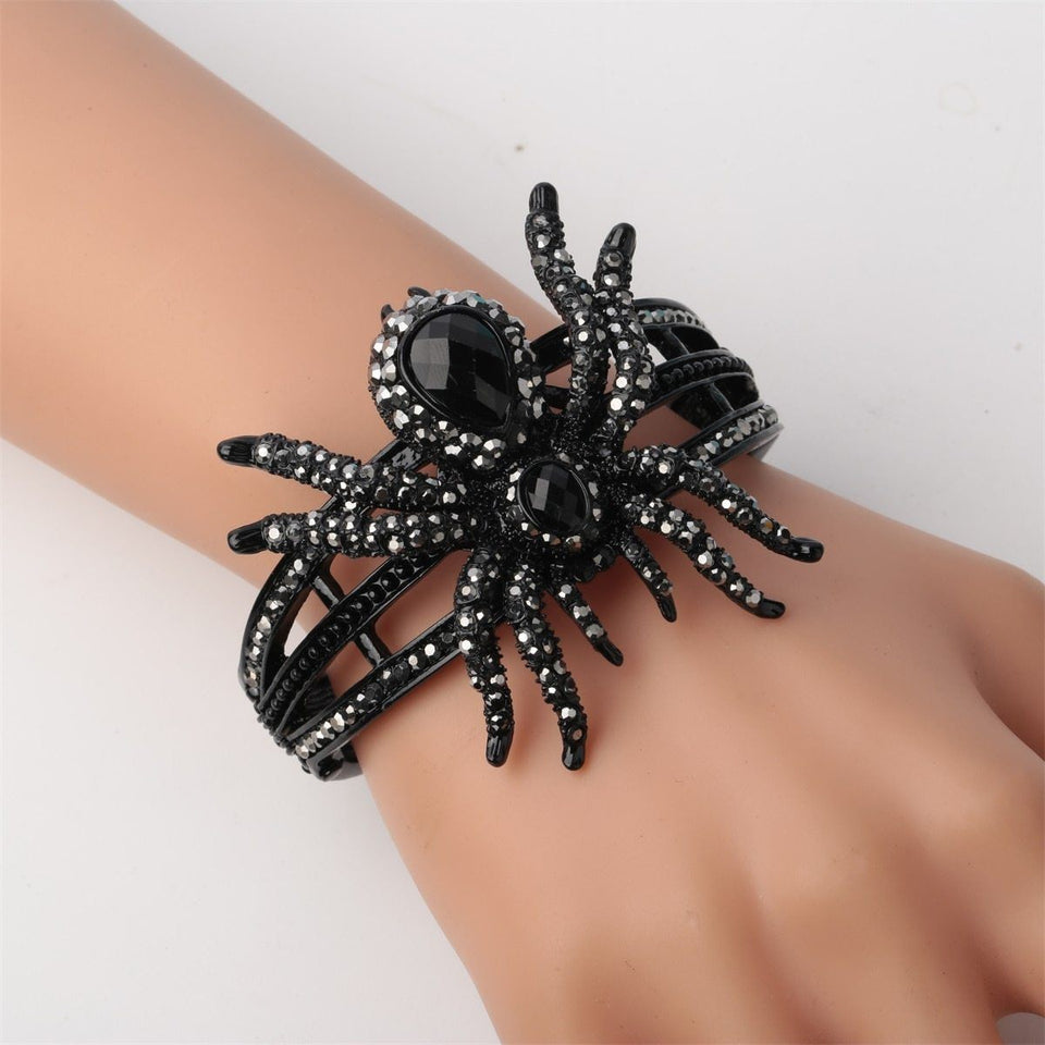 Spider Bracelet Ring Sets Halloween Party Jewelry Women Girls