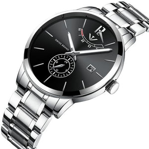 Sport Quartz Full Steel Waterproof Watch - Auto Date